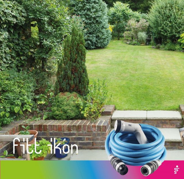 Comfort in a simple gesture. Connect FITT Ikon to the outdoor tap and reach every corner of your garden. How? Because it's extendable! 👉 https://bit.ly/3Bs8beG  #FITT #FITTIkon #coloryourpassion #FITTIkonexetendablehose #extendablehose #gardeningtips #oasis #relax